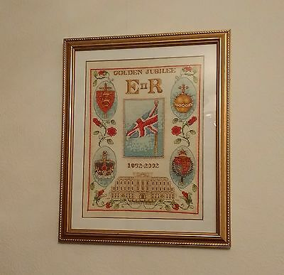 Queens Golden Jubilee - Anchor Cross Stitch wall piece picture