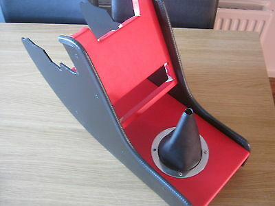 Classic Mini Centre Console In Red With Black Gaiter And Radio Housing *new*