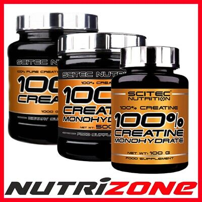 SCITEC NUTRITION 100% CREATINE MONOHYDRATE Powder Muscle Pump + FREE BCAA SHOT