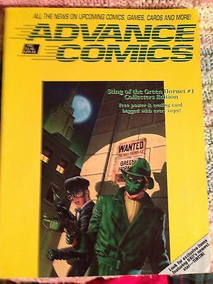 Advance Comics Price Guide# 40 April 1992 . Green Hornet Cover.
