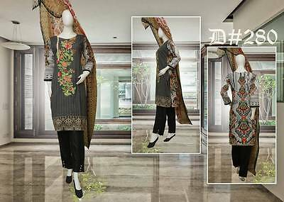 Indian/Pakistani Embroidered 3PC Lawn/Cotton Kurti/Kurta/Kameez Salwar & Dupata