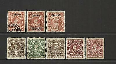 India Feudatory State Of Cochin Anchal ~ 1939-1949 Postage  & Official