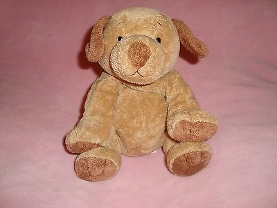 """TY 2003  PLUFFIES DOG  tan beige 9"""" TALL plush & beans"""