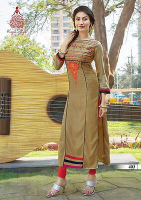 US SELLER Women Indian/Bollywood Kurti/Kurta/Tunic/Top/Blouse XL/42 W/EMBROIDERY