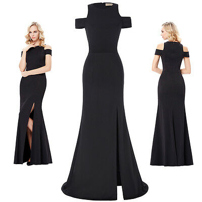 Black Dress Prom Ball Cocktail Evening Party Formal Gown Long Bridesmaid Dresses