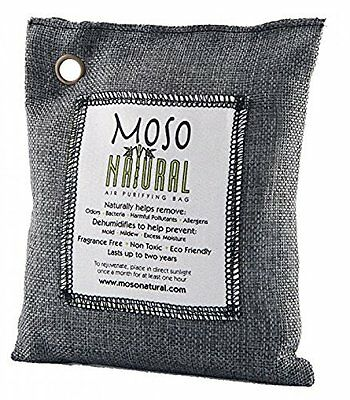 Moso Natural Air Purifying Bag. Odor Eliminator for Cars, Closets and more