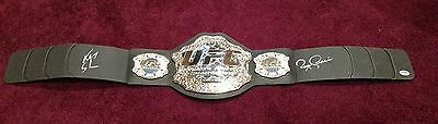Royce Gracie Ken Shamrock Signed UFC Belt PSA