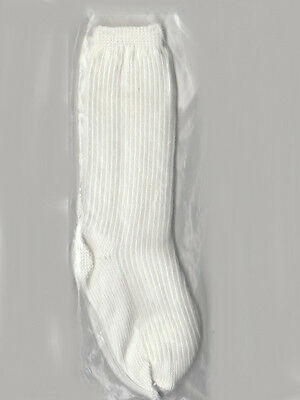 "Vintage White Doll Socks Spain 2"" fit antique vintage + many other dolls"