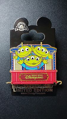 Disney Hong Kong- HKDL LE300 pin - Rail Train Pin Series-Little Green Men/ Alien