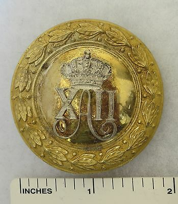 ORIGINAL 1870s-1880s SPANISH ARMY OFFICER BELT BUCKLE KING ALFONSO XII of SPAIN