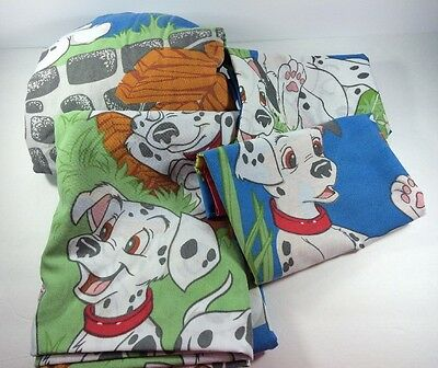 Disney 101 Dalmations Twin Bed Sheet Set 4 Pieces Fitted Flat 2 Pillowcases