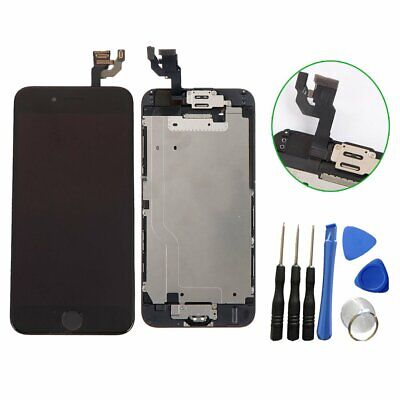 For Full iPhone 6 Touch Screen Replacement Digitizer Home Button Camera Black CA