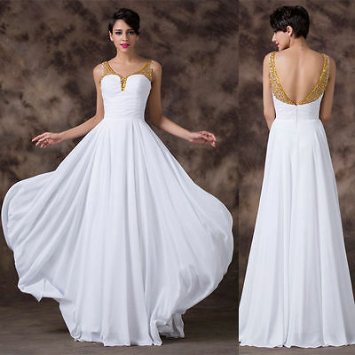 CHEAP~Long Chiffon Wedding Evening Formal Party Ball Gown Prom Bridesmaid Dress