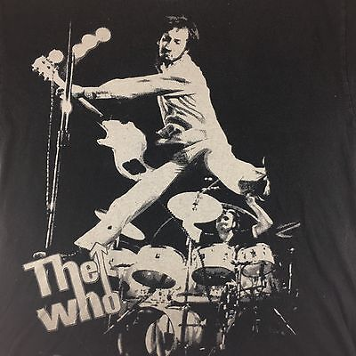 Vintage The Who Black T-shirt Large Peter Townsend Rock Shirt