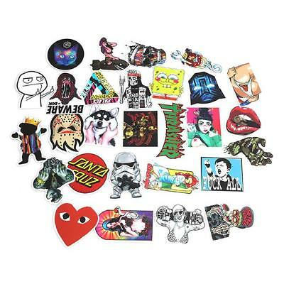 100Pcs Random Luggage Stickers Car Skateboard Guitar Fridge Decal Waterproof FW