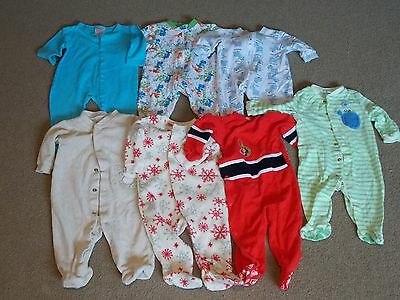 Baby Boy Sleepers Lot  0-6 months (#2)
