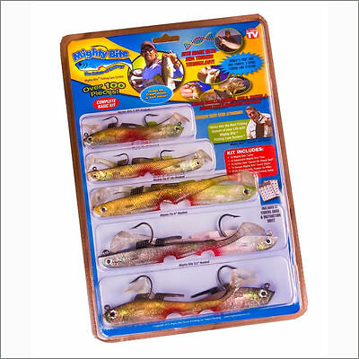 Mighty Bite 5-sense Soft Plastic Fishing Lures/baits kits System Hook inside