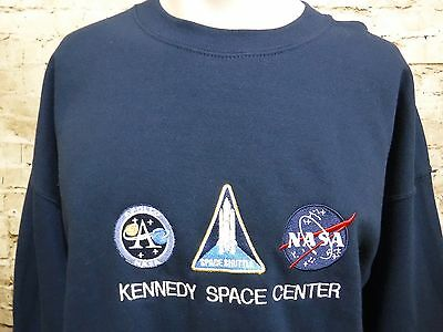 Kennedy Space Center Nasa Shuttle embroidered patch sweatshirt crewneck XL