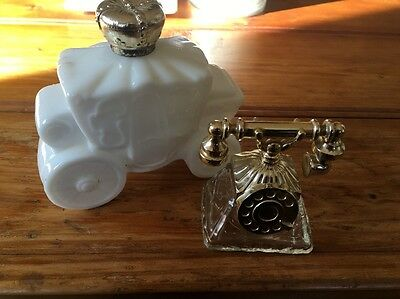 Vintage Avon Perfume Bottles - Telephone And White Chariot