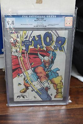 THE MIGHTY THOR #337 CGC 9.4 NM, 1st Full Appearance Beta Ray Bill, case chipped