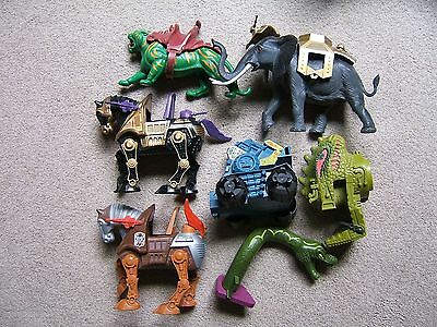 MASTERS OF THE UNIVERSE - LOT of 15! - ANIMALS*, VEHICLES & ACCESSORIES - HE MAN