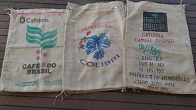 3 PACK Hessian Coffee Sack Colourful Prints Art projects  Postage included