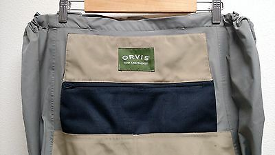 Orvis Pro Guide Waders Size Large Short 10-11 Boots Seam Sealed NO Suspenders.
