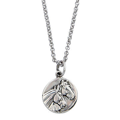 New Necklace - Sterling Silver Horse Head Pendant - JN9332 Jewellery AWST Intern