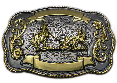 New (Large) Team Roping - TB23 Trophy Buckle Brigalow