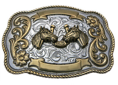 New (Large) Horse Heads & Horse Shoe - TB18 Trophy Buckle Brigalow