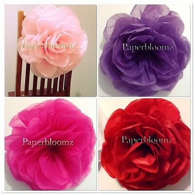 Lovely Large Red Paper Roses X 5 Bulk Valentines Day Weddings Events Wall Decor