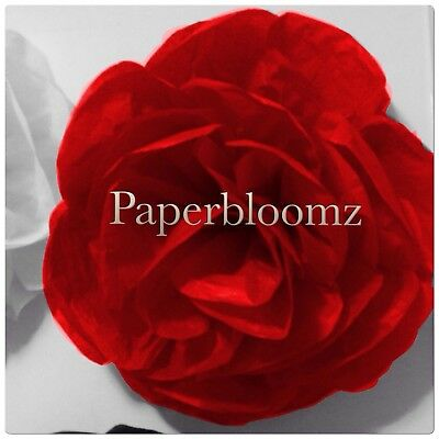Paperbloomz Large Red Paper Rose Tissue Paper Flowers Wall Decorations