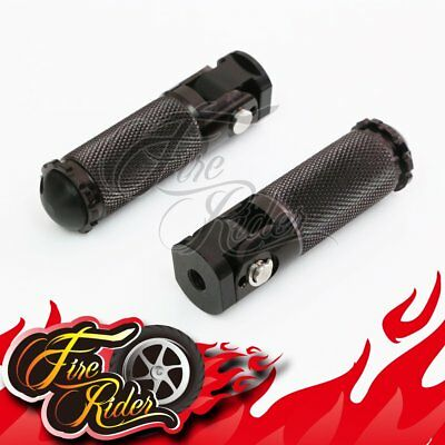 CNC Folding Racing Black Foot Pegs Footrest For Universal Motorcycles