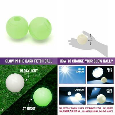 Chuckit MAX GLOW In The Dark Ball Light Play Fetch Ball Dogs Medium Rechargeable