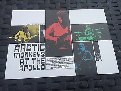 3x ARCTIC MONKEYS AT THE APOLLO Promotional Postcard - VUE Cinema Lobby Card