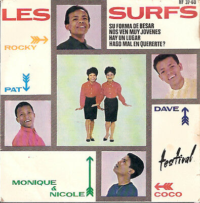 LES SURFS,Shoop shoop song,SPANISH EP.Madagascar Pop group sung in french