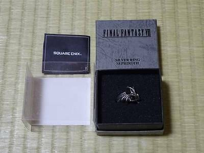 SQUARE ENIX FF7 Final Fantasy Sephirth Silver Ring 19 Official used Japan 225
