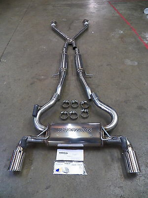 Nissan 370z cat back stainless Dual sports exhaust Magnaflow brand