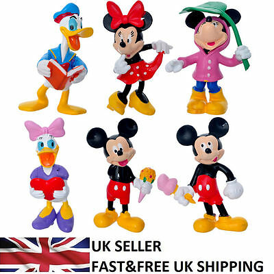 Mickey Mouse Minnie Donald Duck 6 PCS Action Figure Doll Cake Topper Toy UK