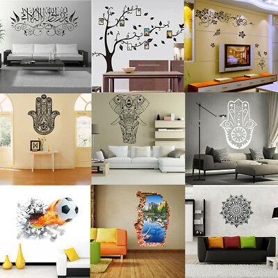 Removible PVC Vinilo Pegatinas de Pared Papel Decal Decoración Hogar Casa DIY