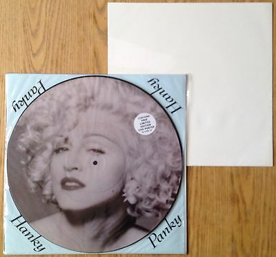 """Madonna  Hanky Panky   1990 UK 12"""" Picture Disc + Live Poster  N.Mint/N.Mint"""