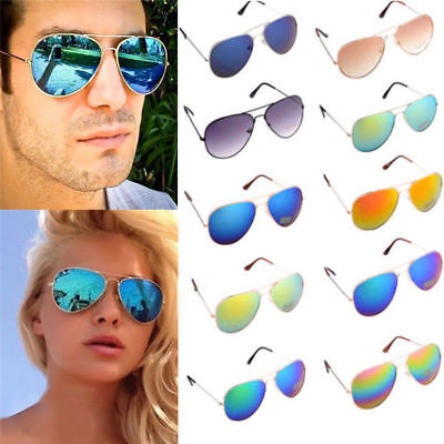 Unisex Vintage Retro Women Men Glasses Fashion Mirror Lens Sunglasses AU
