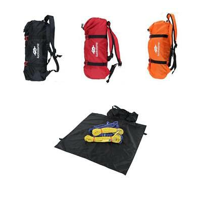 Rock Tree Climbing Rope Bag Gear Equipment Storage Carry Backpack & Ground Sheet