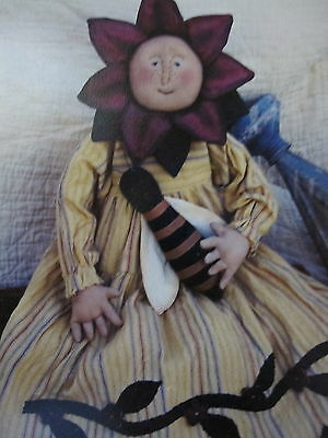 """ PLEASE BEE MINE""  Cloth Doll Pattern by Country Harvest"