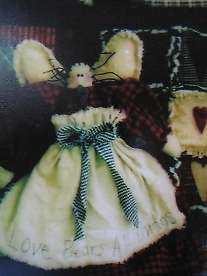 """  RAGGED HEARTS ""  Cloth Doll Pattern by Wendy's Cottonthread Cottage"