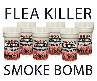 Flea Bomb Smoke Fumers - Fumigator Dog/Cat Fleas House Room Foggers/Flea Killer
