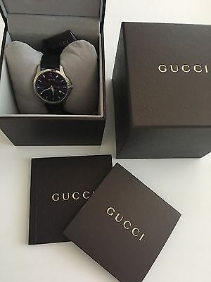 100% authentic Gucci G- timeless black dial stainless stell men's watch