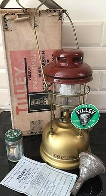 Vintage 1950's Tilley X246 Boxed Paraffin Lamp with Instructions & Accessories.