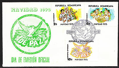 DOMINICAN REPUBLIC,  Christmas 1975  FDC, VF