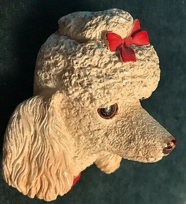 ANTIQUE POODLE WALL PLAQUE PLASTER BUST BY BOSSONS ENGLAND. Copyright Reserved.